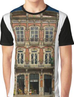 Art Nouveau facade Portugal Europe Graphic T-Shirt
