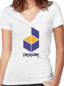 Treasure Logo Women's Fitted V-Neck T-Shirt