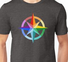 Rainbow Compass Rose Unisex T-Shirt