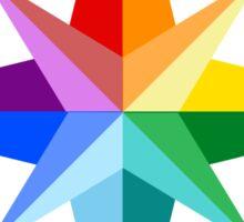 Rainbow Compass Rose Sticker