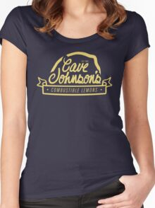 cave johnson's combustible lemons Women's Fitted Scoop T-Shirt