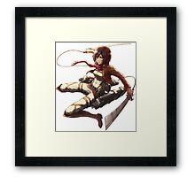 mikasa military design attack on titan Framed Print