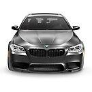 Black 2015 BMW M5 luxury car art photo print by ArtNudePhotos