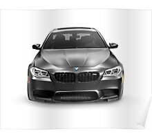 Black 2015 BMW M5 luxury car art photo print Poster