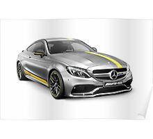 Mercedes‑AMG C 63 S luxury sports car art photo print Poster