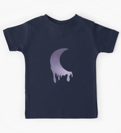 Sparkly Melting Moon Kids Tee