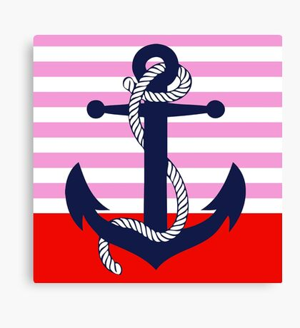 Ahoy! (pink dipped) Canvas Print