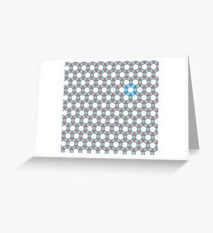 Tiling Tessellation In Green, Blue & Pink Greeting Card