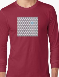 Tiling Tessellation In Green, Blue & Pink Long Sleeve T-Shirt