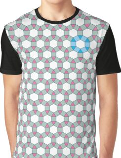 Tiling Tessellation In Green, Blue & Pink Graphic T-Shirt