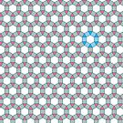 Tiling Tessellation In Green, Blue & Pink by funmaths