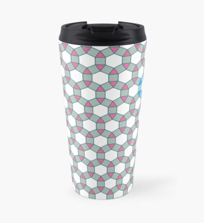 Tiling Tessellation In Green, Blue & Pink Travel Mug