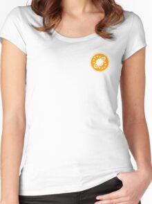 Galaxy Quest Emblem Orange Women's Fitted Scoop T-Shirt