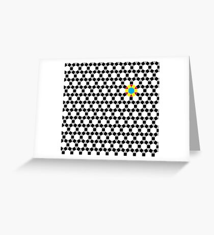 Black & White Tessellation Pattern Greeting Card