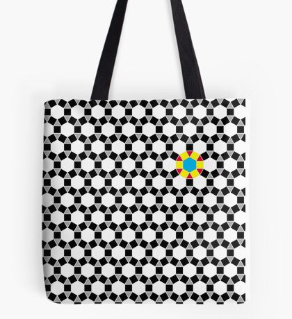 Black & White Tessellation Pattern Tote Bag