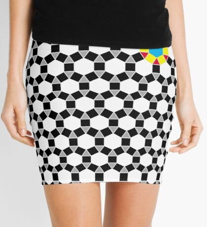 Black & White Tessellation Pattern Mini Skirt