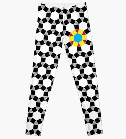 Black & White Tessellation Pattern Leggings