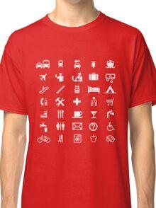 International travel symbols in WHITE Classic T-Shirt