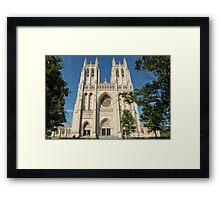Washington National Cathedral Front Exterior Framed Print