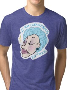 mrs. slocombe's motto Tri-blend T-Shirt