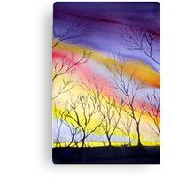 Sunset near Roper's hut Canvas Print