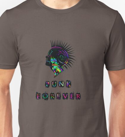 Colorful Punk Forever Mohawk Unisex T-Shirt