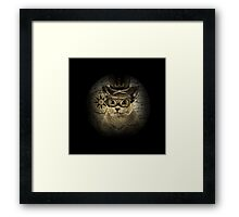 Cheeky Steampunk Cat with Goggles and Top Hat Framed Print