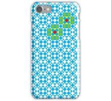 Tessellation tiling pattern in blue iPhone Case/Skin