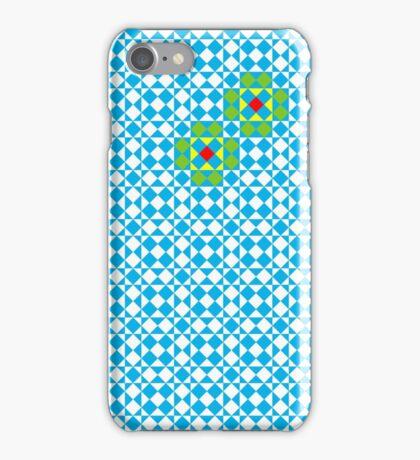 Tessellation tiling pattern in blue iPhone Case/Skin