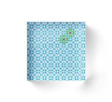 Tessellation tiling pattern in blue Acrylic Block