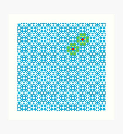 Tessellation tiling pattern in blue Art Print