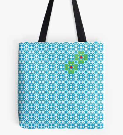 Tessellation tiling pattern in blue Tote Bag