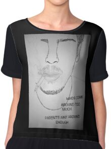 """Includes Frank ocean lyrics from song """"Super Rich Kids"""" Chiffon Top"""