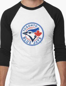 Toronto Blue Jays logo Men's Baseball ¾ T-Shirt