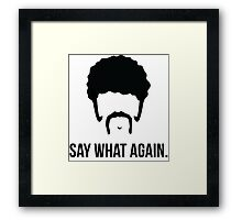 Say What Again - Pulp Fiction Framed Print