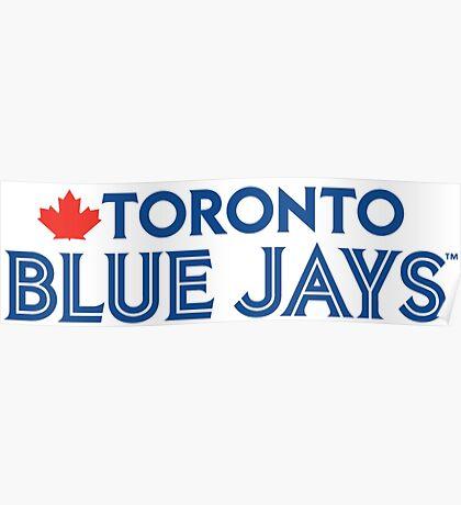 Toronto Blue Jays Wordmark with Canada maple leaf Poster