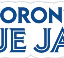 Toronto Blue Jays Wordmark with Canada maple leaf Sticker
