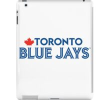 Toronto Blue Jays Wordmark with Canada maple leaf iPad Case/Skin