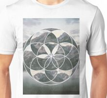 Mountain scape Geometric Collage Unisex T-Shirt