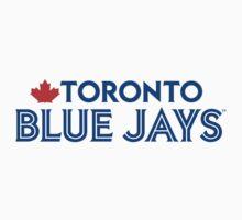 Toronto Blue Jays Wordmark with Canada maple leaf Kids Tee