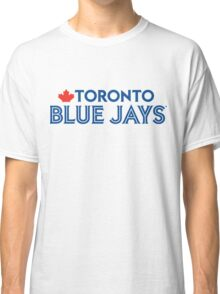 Toronto Blue Jays Wordmark with Canada maple leaf Classic T-Shirt