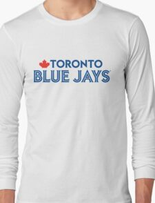 Toronto Blue Jays Wordmark with Canada maple leaf Long Sleeve T-Shirt