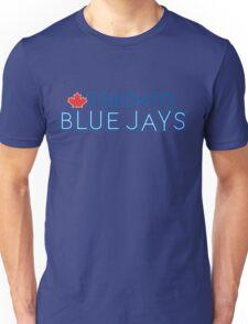 Toronto Blue Jays Wordmark with Canada maple leaf Unisex T-Shirt