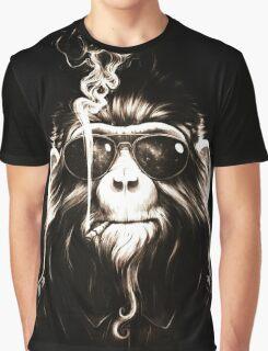 Smoking Monkey Graphic T-Shirt
