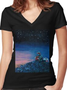 Wall-E Women's Fitted V-Neck T-Shirt
