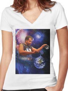 Neil DeGrasse Tyson: Planet Earth Women's Fitted V-Neck T-Shirt