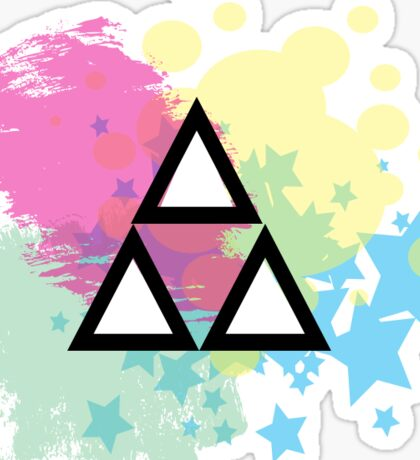 Abstract Tri-Force Sticker