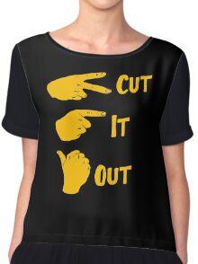 cut it out Chiffon Top