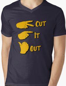 cut it out Mens V-Neck T-Shirt