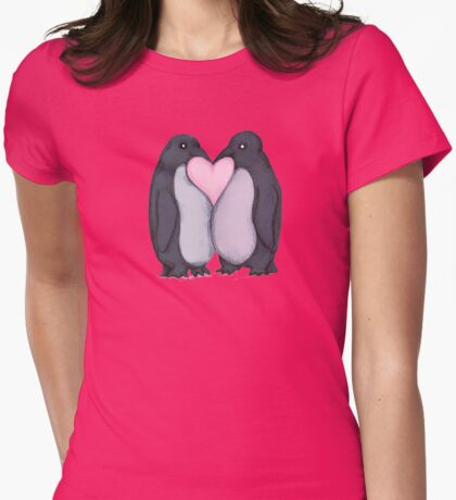 Penguin Kisses  Womens Fitted T-Shirt